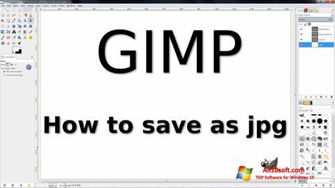 Petikan skrin GIMP untuk Windows 10