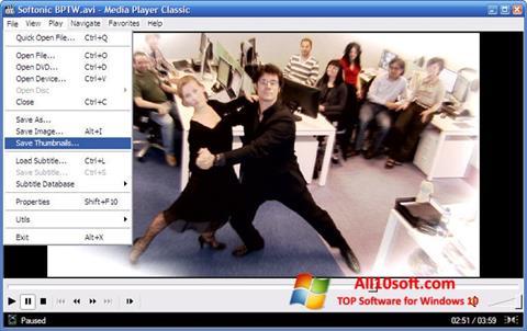 Petikan skrin Media Player Classic untuk Windows 10