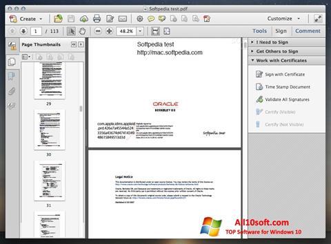 Petikan skrin Adobe Acrobat untuk Windows 10