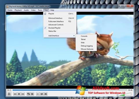 Petikan skrin VLC Media Player untuk Windows 10