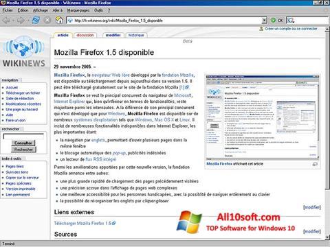Petikan skrin Mozilla Firefox untuk Windows 10