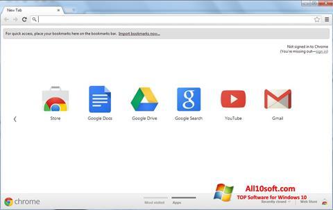 Petikan skrin Google Chrome untuk Windows 10