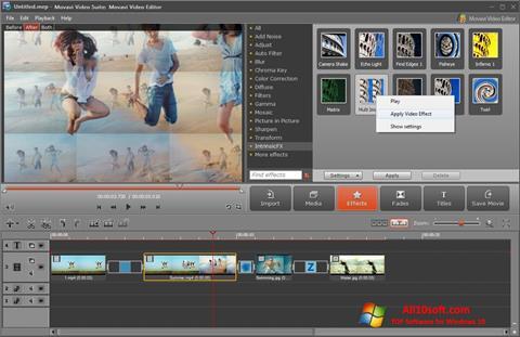 Petikan skrin Movavi Video Suite untuk Windows 10
