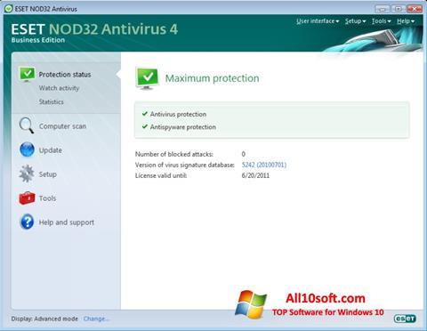 Petikan skrin ESET NOD32 untuk Windows 10
