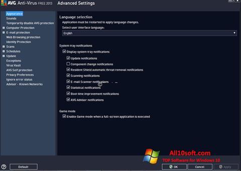 Petikan skrin AVG untuk Windows 10