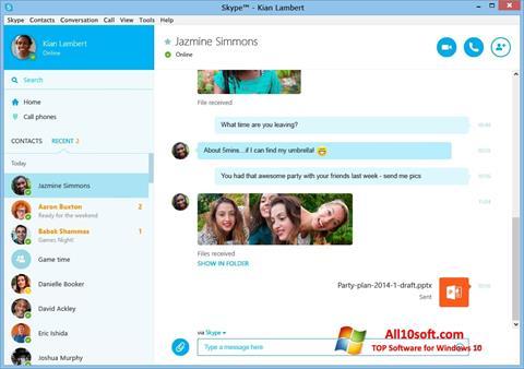 Petikan skrin Skype untuk Windows 10