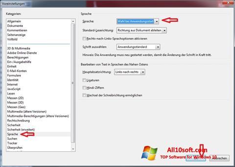 Petikan skrin Adobe Reader untuk Windows 10