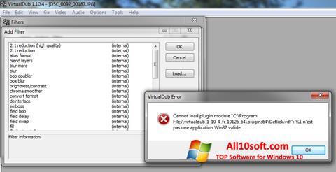 Petikan skrin VirtualDub untuk Windows 10